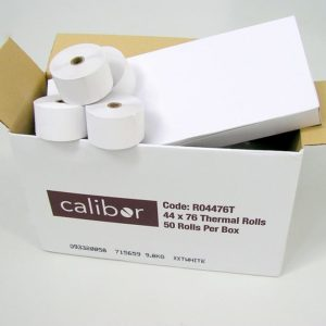CALIBOR THERMAL PAPER 44X76 50 ROLLS / BOX
